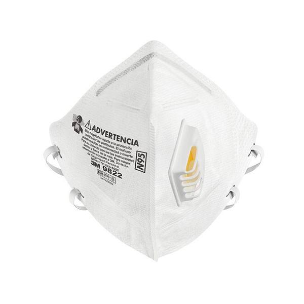 Respirador Desechable para Polvos y Neblinas 9002(9822N95) Plegable 3M(Pieza) Blanco MT900172396 … - 0