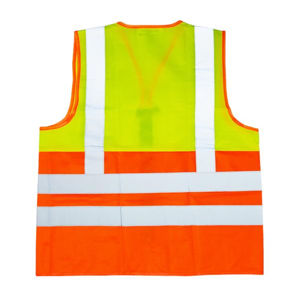 Chaleco Alta Visibilidad con 4 Reflejantes LAMIRA Amarillo/Naranja LS-4052 - 1
